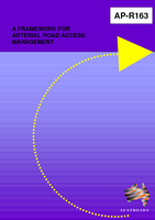 Cover of A Framework for Arterial Road Access Management