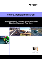 Cover of Development of the Austroads School Road Safety Education Check List: Final Report