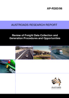 Cover of Review of Freight Data Collection and Generation Procedures and Opportunities