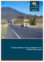 Cover of Freight Axle Mass Limits Investigation Tool (FAMLIT) User Guide