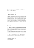 Cover of Design and Construction of Bridge over the Hunter