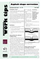 Asphalt Shape Correction