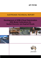 Cover of Development of HDM-4 Road Deterioration (RD) Model Calibrations for Sealed Granular and Asphalt Roads