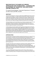 Cover of Restoration of Scoured Out Bridge Approaches and Foundations: A Queensland Department of Transport and Main Roads Perspective