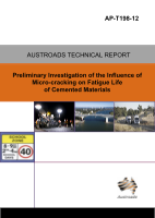Cover of Preliminary Investigation of the Influence of Micro-cracking on Fatigue Life of Cemented Materials