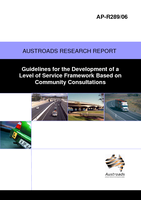 Cover of Guidelines for the Development of a Level of Service Framework based on Community Consultations