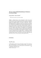 Cover of The Use of Non-Welded Refurbishment Methods in Steel Road Bridges