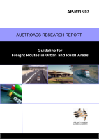 Cover of Guideline for Freight Routes in Urban and Rural Areas