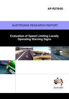 Evaluation of Speed Limiting Locally Operating Warning Signs