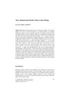 Cover of Three Dimensional Model of Box Girder Bridge