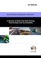 Cover of A Review of Road Use Data Pricing, Partnerships and Accessibility