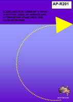 Cover of Guidelines for community input in setting level of service and intervention standards for road networks