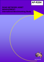 Road Network Asset management: International Benchmarking Study