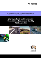 Cover of Literature Review of Community Consultation Techniques used by Road Agencies