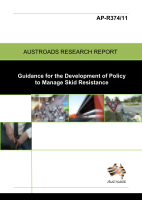 Cover of Guidance for the Development of Policy to Manage Skid Resistance