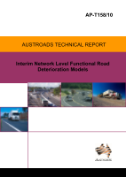 Interim Network Level Functional Road Deterioration Models