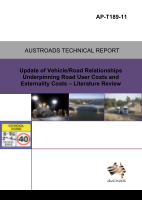 Update of Vehicle/Road Relationships Underpinning Road User Costs and Externality Costs