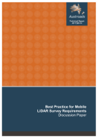 Best Practice for Mobile LiDAR Survey Requirements: Discussion Paper