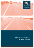 Cover of LTPP Site Establishment in South Australia