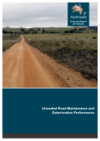 Cover of Unsealed Road Maintenance and Deterioration Performance
