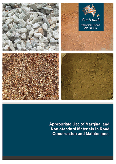 Cover of Appropriate Use of Marginal and Non-standard Materials in Road Construction and Maintenance
