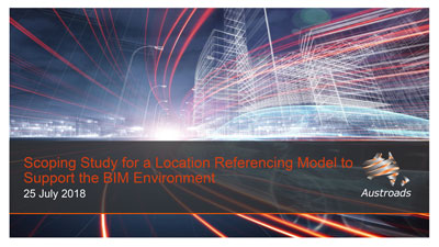 Webinar: Scoping Study for a Location Referencing Model to Support the BIM Environment