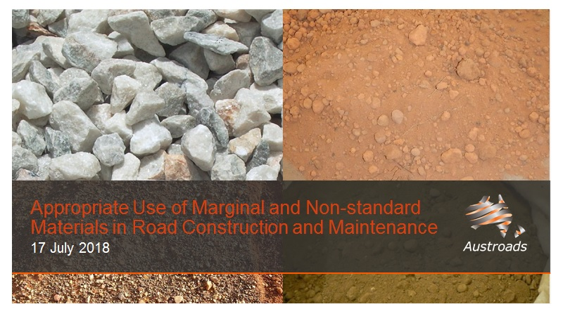 Webinar: Appropriate Use of Marginal and Non-standard Materials in Road Construction and Maintenance