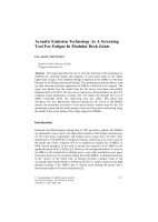 Cover of Acoustic Emission Technology As A Screening Tool For Fatigue In Modular Deck Joints