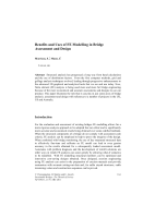 Benefits and Uses of FE Modelling in Bridge Assessment and Design