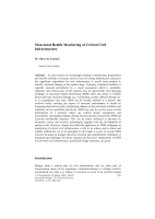 Cover of Structural Health Monitoring of Critical Civil Infrastructure