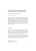 Cover of Comparison of Concrete Shear and Torsion Design