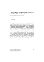 Cover of A Practical Method for Determining the Geometry of a Double-Inclined Circular Curve for Use in Incrementally Launched Bridges