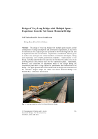 Cover of Design of Very Long Bridges with Multiple Spans