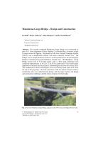 Cover of Matahorua Gorge Bridge: Design and Construction