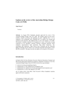Cover of Update on the review of the Australian Bridge Design Code (AS 5100)