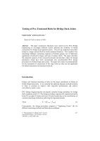 Cover of Testing of Pre-Tensioned Bolts for Bridge Decks Joints