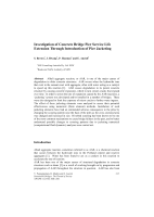 Investigation of Concrete Bridge Pier Service Life Extension Through Introduction of Pier Jacketing
