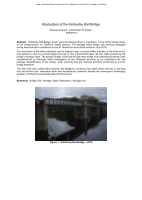 Cover of Restoration of the Kimberley Rail Bridge
