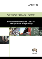 Cover of Development of Marginal Costs for Heavy Vehicle Bridge Usage