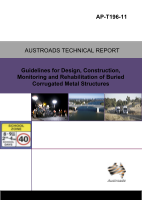 Cover of Guidelines for Design, Construction, Monitoring and Rehabilitation of Buried Corrugated Metal Structures