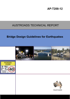 Cover of Bridge Design Guidelines for Earthquakes
