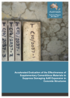 Accelerated Evaluation of the Effectiveness of Supplementary Cementitious Materials to Suppress Damaging AAR Expansion in Concrete Structures
