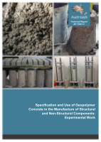 Specification and Use of Geopolymer Concrete in the Manufacture of Structural and Non-Structural Components: Experimental Work