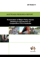 Cover of Examination of Major Policy Issues Relating to Introduction of Cooperative ITS to Australia