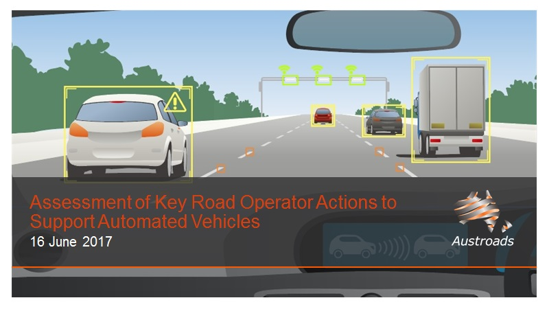 Cover of Webinar: Assessment of Key Road Operator Actions to Support Automated Vehicles