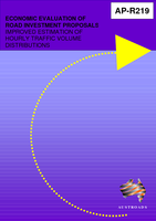Cover of Economic Evaluation of Road Investment Proposals: Improved Estimation of Hourly Traffic Volume Distributions