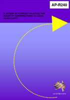 Cover of A Review of Current Practice for Industry Contributions to Local Road Costs