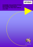 Cover of Economic Evaluation of Road Investment Proposals: Unit Values for Road User Costs at June 2002