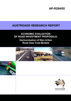 Cover of Economic Evaluation of Road Proposals: Harmonisation of Non-Urban Road User Cost Models
