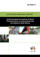 Cover of Understanding the Impacts of Road Pricing Factors on Future Road Use and Network Wide Effects